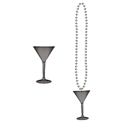 Beistle Beads Necklace With Martini Glass, 36