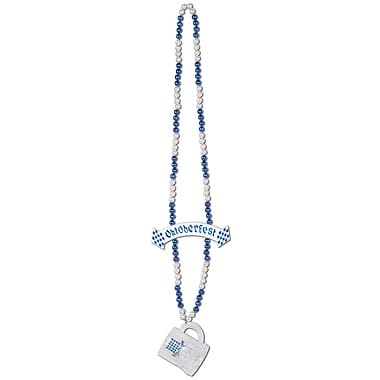 Beistle Beads Necklace With Oktoberfest Mug and Banner Beads Necklace, 39