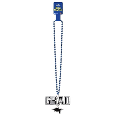 Beistle Beads Necklace With Grad Medallion, 36