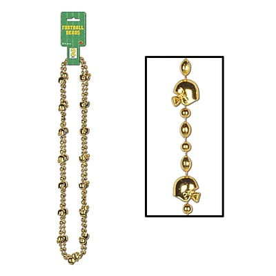 Beistle Football Beads Necklace, 35