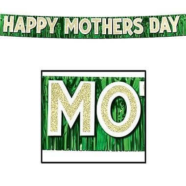 Bannière métallique « Happy Mother's Day », 10 po x 9 pi 6 po