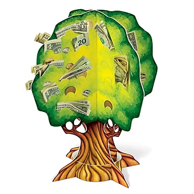 Slotted To Hold Money 3-D Money Tree, 15