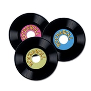 "Beistle 9"" Personalize Plastic Records, Assorted, 9/Pack"