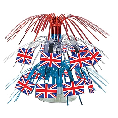British Flag Mini Cascade Centerpiece, 7-1/2