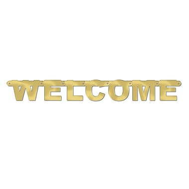 Foil Welcome Streamer, 8