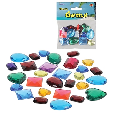 Pierres précieuses en plastique, 3 oz