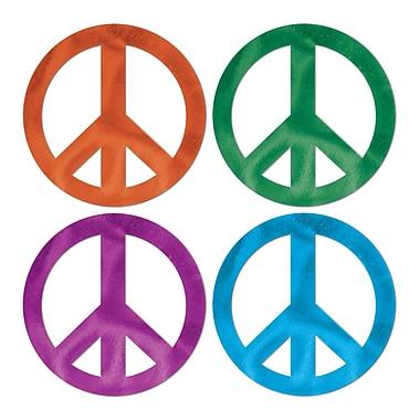 Découpes symbole de la paix scintillant, 18 po, 24/paquet