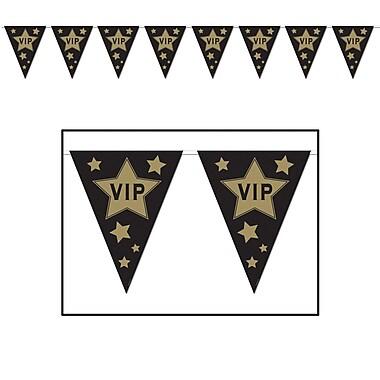 Bannière à fanions VIP, 10 po x 12 pi, 4/paquet