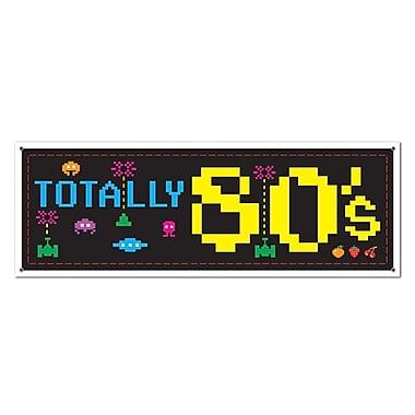 Affiche bannière années 80, 5 pi x 21 po, 3/paquet