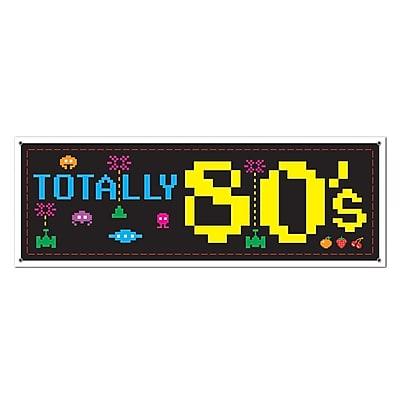 Beistle 80s Sign Banner, 5' x 21