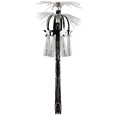 Star Cascade Hanging Column, 3', Black & Silver, 4/Pack