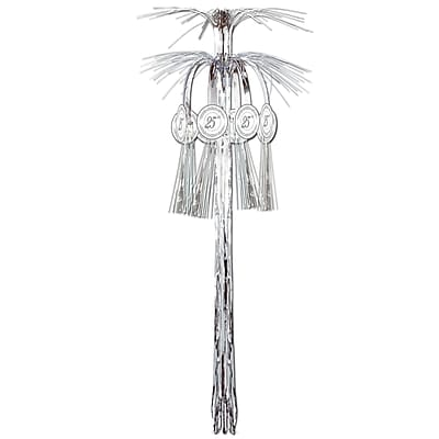 Beistle 3' 25th Anniversary Cascade Hanging Column, 4/Pack