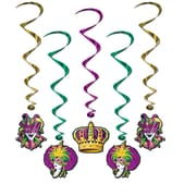 "Beistle 3' 4"" Mardi Gras Whirls, 15/Pack"