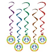 "Beistle 3' 2"" Peace Sign Whirls, 15/Pack"