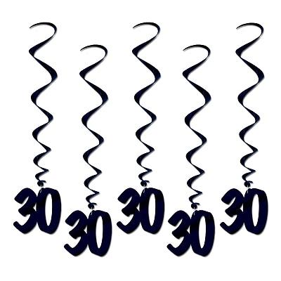 Beistle 3' 30 Whirls, Black, 15/Pack