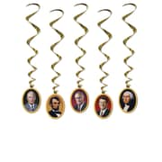 "Beistle 3' 2"" American President Whirls, 15/Pack"