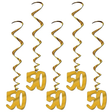 50th Anniversary Whirls With Silhouette, 3', 15/Pack
