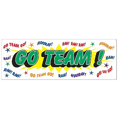 Go Team Sign Banner, 5' x 21