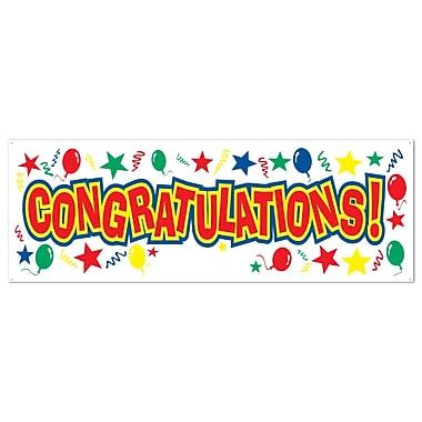 Congratulations Sign Banner, 5' x 21