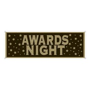 """Beistle 5' x 21"""" Awards Night Sign Banner, 3/Pack"""