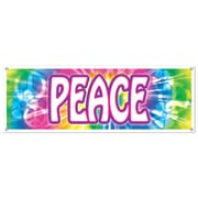 "Beistle Peace Sign Banner, 5' x 21"", 3/Pack"