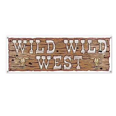 Wild Wild West Sign Banner, 5' x 21