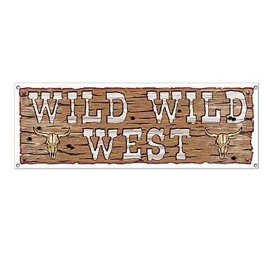 Banderole enseigne « Wild Wild West », 5 pi x 21 po, 3/paquet