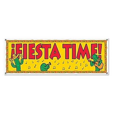 Fiesta Time Sign Banner, 5' x 21