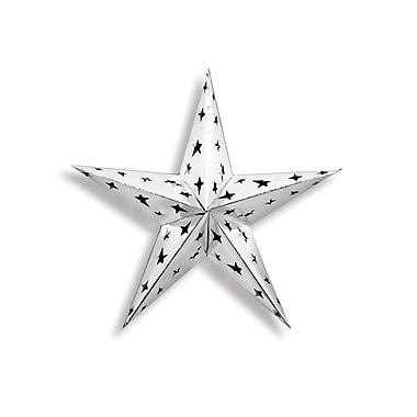 Dimensional Foil Star, Silver, 4/Pack