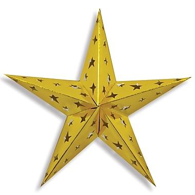Étoile dimensionnelle en aluminium, doré, 3/paquet