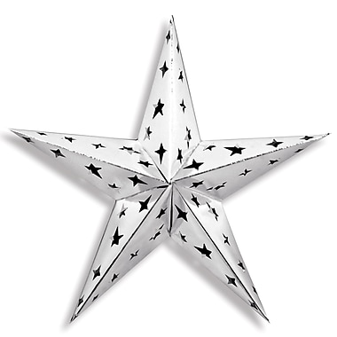 Dimensional Foil Star, Silver, 3/Pack