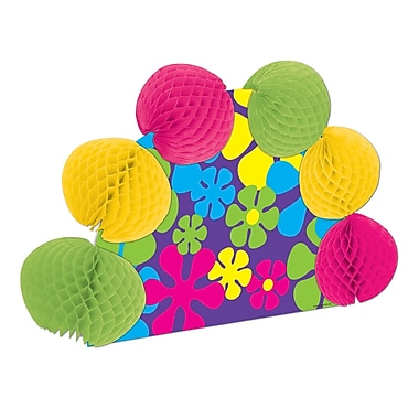 Beistle Retro Flowers Pop-Over Centerpiece, 10