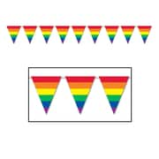 Bannière à fanions arc-en-ciel, 10 po x 12 pi, 4/paquet