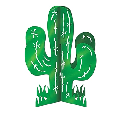Centre de table 3 dimensions cactus, 11 po, 4/paquet