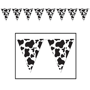 Cow Print Pennant Banner, 10