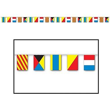 Bannière de drapeaux de marin, 12 po x 23 pi, 3/paquet