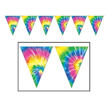 Tie-Dyed Pennant Banner, 10