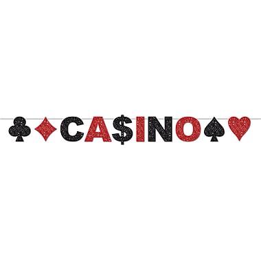 Serpentin à paillettes Casino, 8 ½ po x 8 pi, paq./2