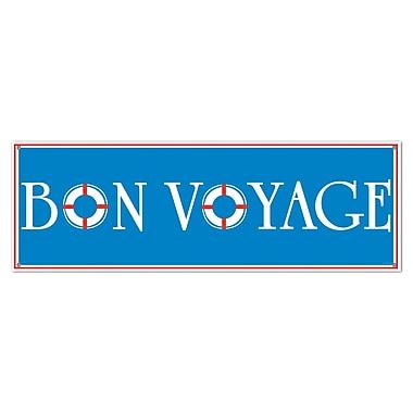 Bannière Bon Voyage, 5 pi x 21 po, 3/paquet