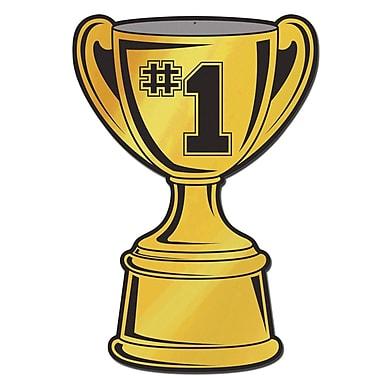 Découpe d'un trophée métallisé, 16 po, paquet de 5