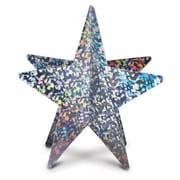"Beistle 12"" 3D Prismatic Star Centerpiece, Silver, 4/Pack"