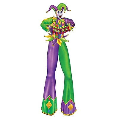 Beistle 6' Jointed Mardi Gras Figure