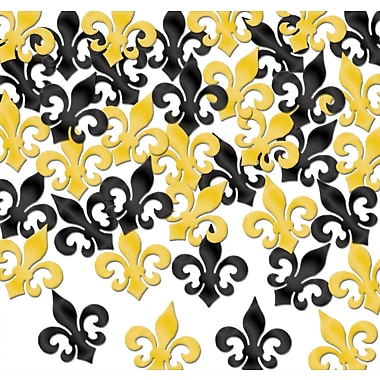 Fanci-Fetti Fleur De Lis, Contains Total Of 5 Ounces, Black & Gold, 5/Pack