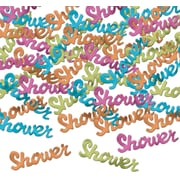 Beistle Shower Fanci Confetti, Assorted, 5/Pack