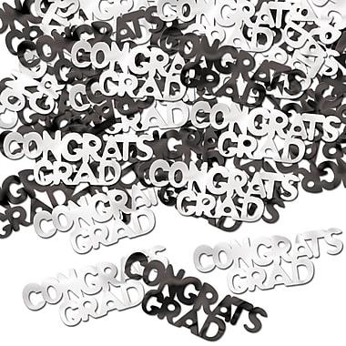 Beistle Congrats Grad Fanci Confetti, Black/White, 5/Pack