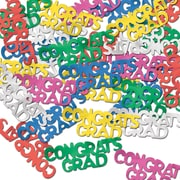 Beistle Congrats Grad Fanci Confetti, Multicolor, 5/Pack