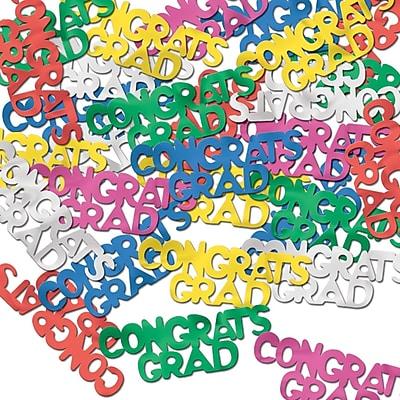 Beistle Congrats Grad Fanci Confetti, Multicolor, 5/Pack