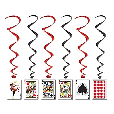 """""Beistle 3' 4"""""""" Playing Card Whirls, 15/Pack"""""" 1072292"