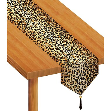 Printed Leopard Print Table Runner, 11