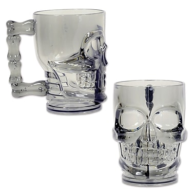 Plastic Skull Mug, Holds 20 Ounces, 2/Pack